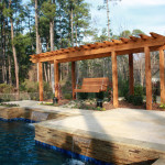pergola with wooden swing
