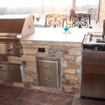 stainless steel drawers in kitchen