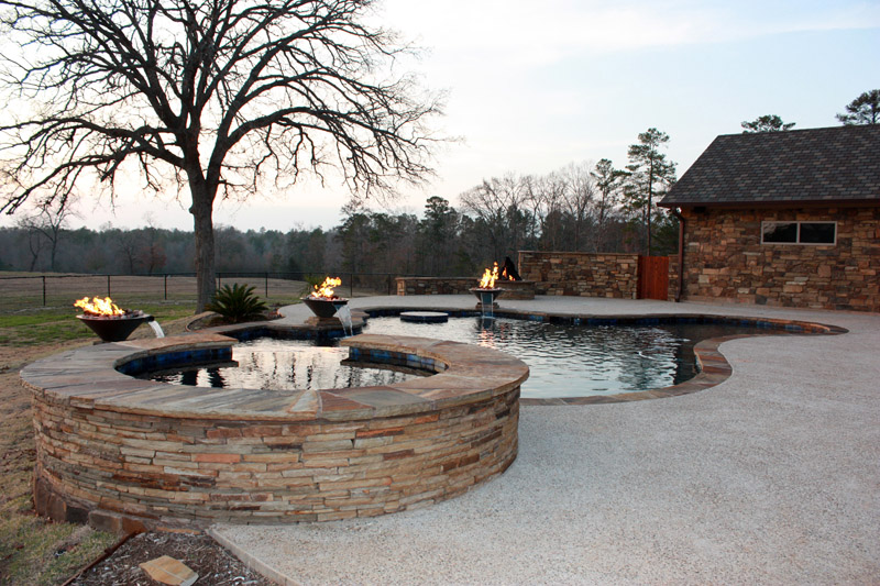 Inground Spas With Stack Stone : Spa hot tub photo gallery