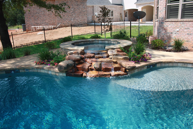 Rock Waterfall Into Pool Best Waterfall Golalico