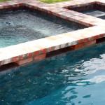 square custom hot tub and pool