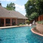 curved edge pool the blends perfectly to house