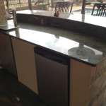 outdoor kitchen with dish washer
