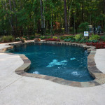 Razor Back pool with fountains